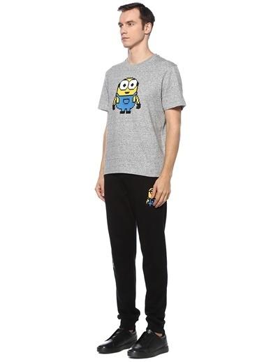 Mhrs Mhrs 101542322 8Bit by Mhrs Melanj 3D Figür Baskılı Erkek Basic Tshirt Gri